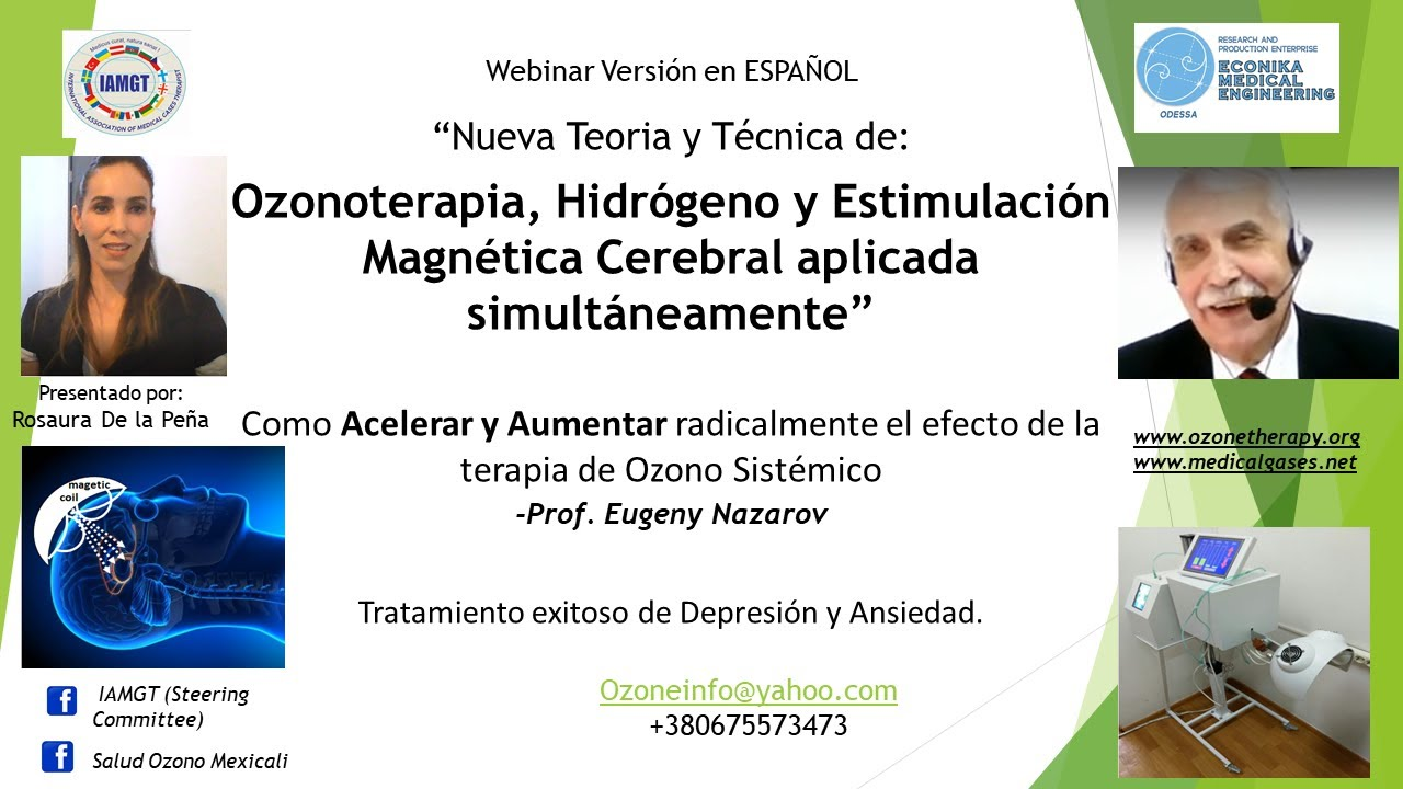 Teoria y Técnica Ozonoterapia, Hidrógeno y Estimulación Magnética Transcraneal acelera Resultados